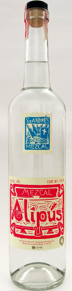 mezcal alipus bottle